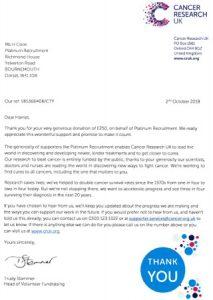 Cancer Platinum Recruitment Charity